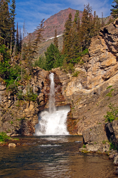 Stockfoto: Lopen · adelaar · Montana · dramatisch · gletsjer · park