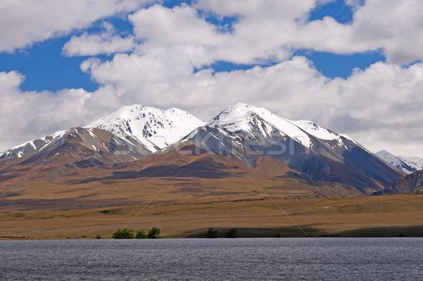 Snowy peaks above an alpine plain Stock photo © wildnerdpix