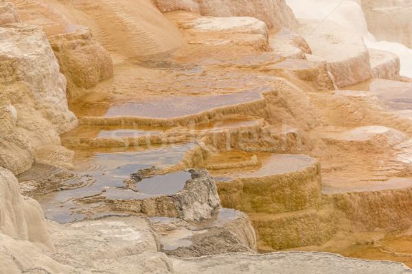 Kleurrijk kalksteen terras mooie natuurlijke Stockfoto © wildnerdpix