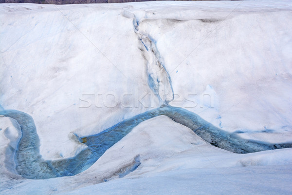 Meltwater Stream on the Surface of a Glacier Stock photo © wildnerdpix
