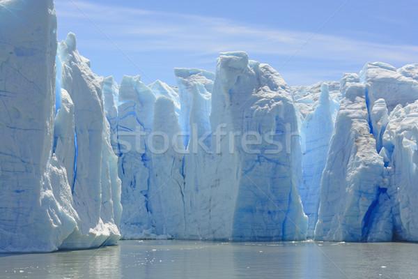 青 氷 列 水 グレー 氷河 ストックフォト © wildnerdpix