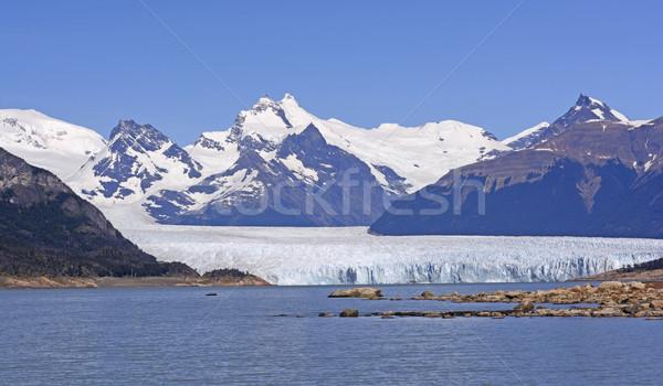 Gleccser napos idő park Argentína víz hegyek Stock fotó © wildnerdpix