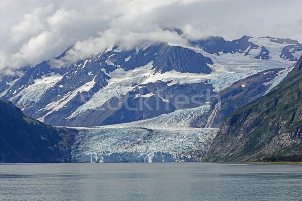Dramatisch gletsjer uit bergen verrassing prins Stockfoto © wildnerdpix