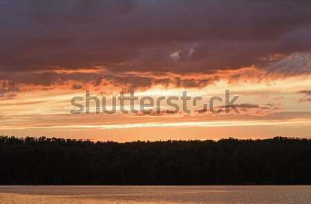 Orange Skies and Clouds in the Wilds Stock photo © wildnerdpix