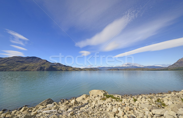 Lenticular Clouds Over A Glacial Lake Stock photo © wildnerdpix
