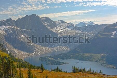 Alpesi tó késő délután fény rejtett Stock fotó © wildnerdpix