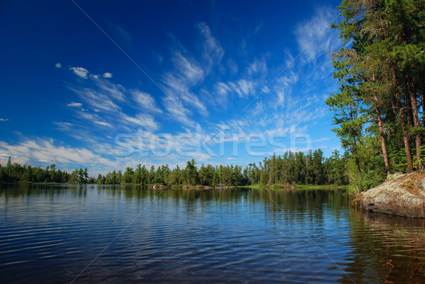 A wilderness lake and summer skies Stock photo © wildnerdpix