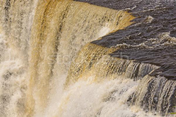 Dramatik su çağlayan nehir uzak doğal Stok fotoğraf © wildnerdpix
