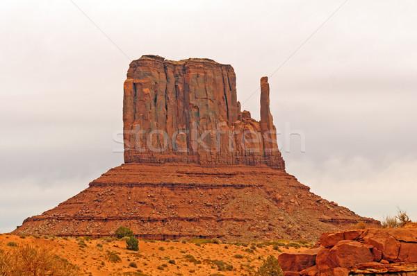 Rood rotsformatie amerikaanse zuidwest west natuur Stockfoto © wildnerdpix
