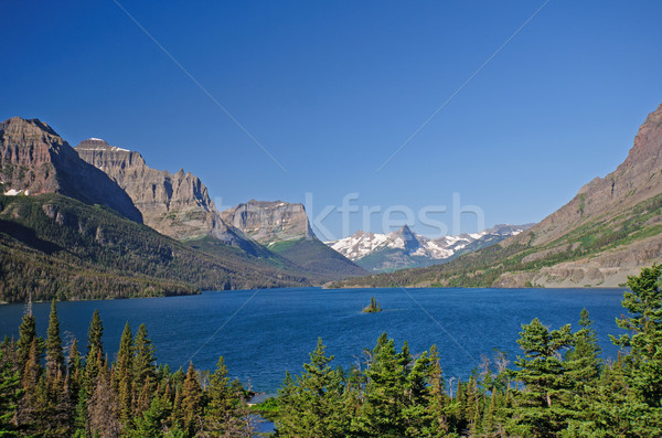 Alpine lac ouest glacier parc Montana Photo stock © wildnerdpix