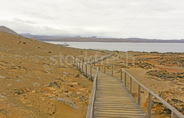 Boardwalk to the Ocean on a Volcanic Island Stock photo © wildnerdpix
