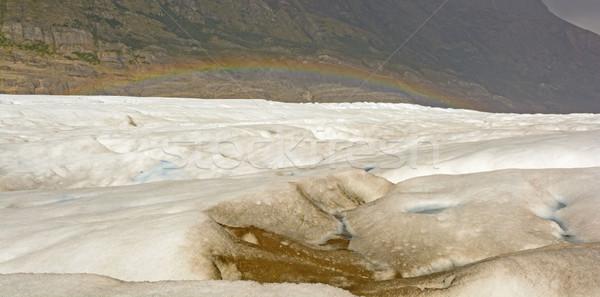 Arco-íris alpino geleira cinza parque paisagem Foto stock © wildnerdpix