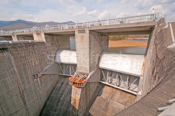 Emergency spillway for a dam. Stock photo © wildnerdpix