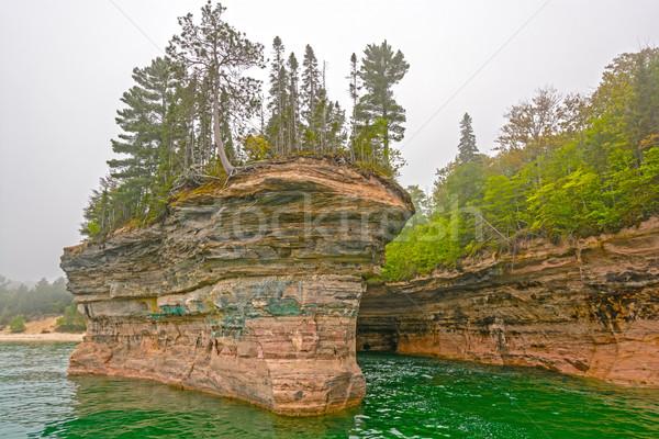 Rock ships in the Fog Stock photo © wildnerdpix