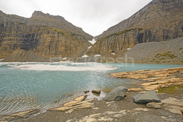 Icy Alpine Lake in the Fall Stock photo © wildnerdpix