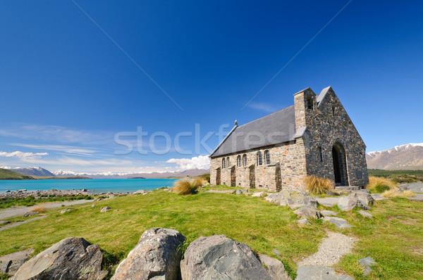 Rustic Church by an Alpine Lake Stock photo © wildnerdpix
