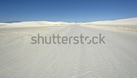 Sabbia bianca autostrada bianco Nuovo Messico strada natura Foto d'archivio © wildnerdpix