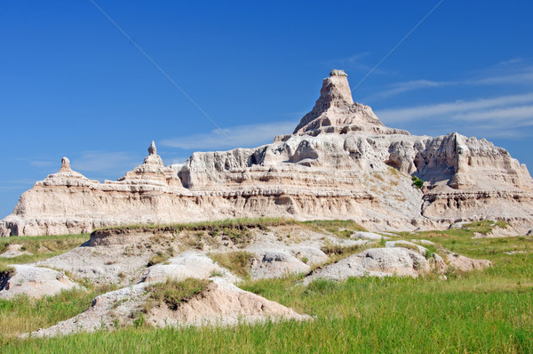 Badlandsin the summer sky Stock photo © wildnerdpix