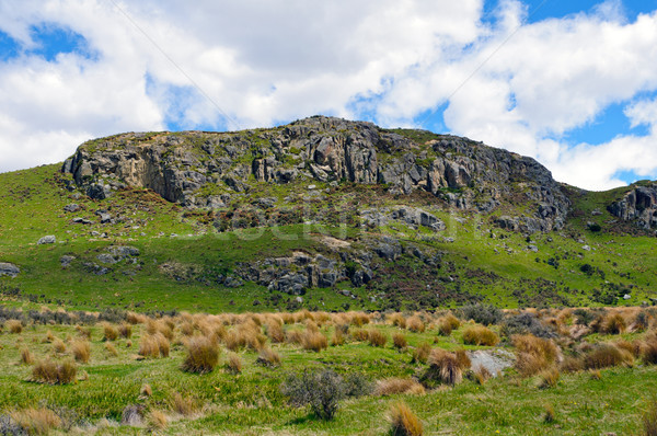 Mt Sunday used for Edoras in the Lord of the Rings Movie Stock photo © wildnerdpix