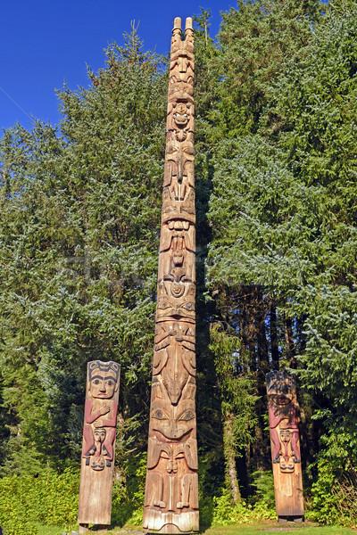Totem Poles at a Coastal Preserve Stock photo © wildnerdpix