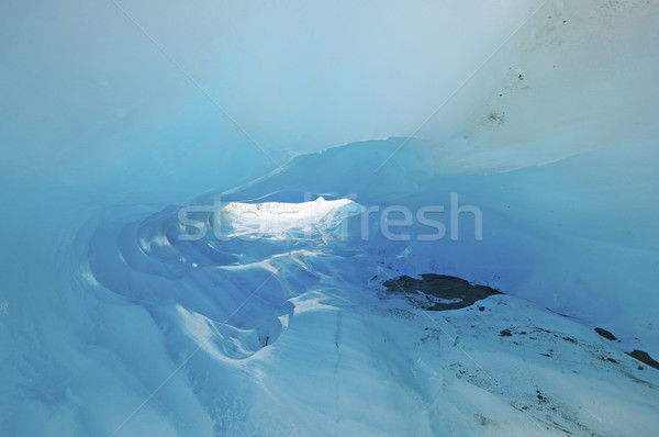 Blue Ice in a Glacial Ice Cave Stock photo © wildnerdpix