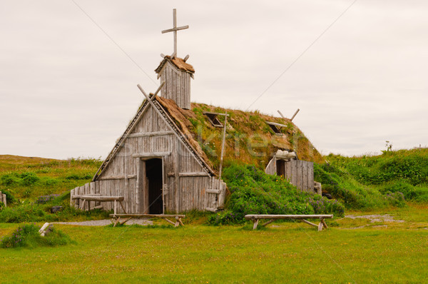 Replica Church in Viking Village in Newfoundland Stock photo © wildnerdpix