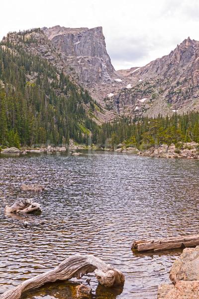 Dramatic Peak over an Alpine Lake Stock photo © wildnerdpix