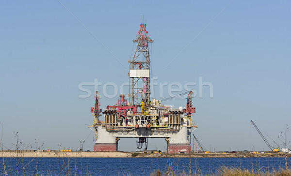 Offshore Oil Rig on Shore Stock photo © wildnerdpix