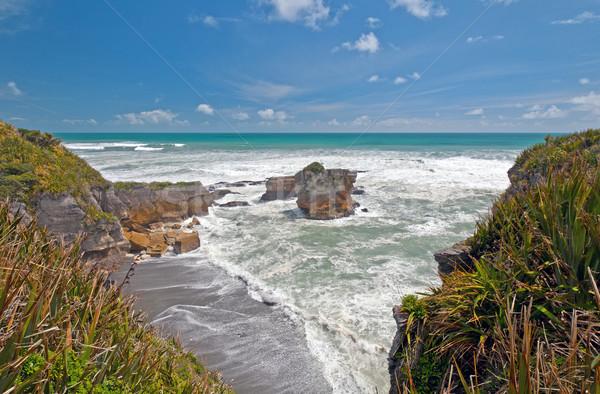 Ocean View along a Rocky Coast Stock photo © wildnerdpix