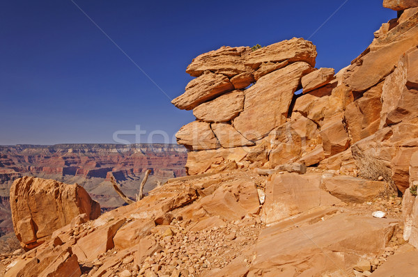 Precarious Rock formation on a Canyon Trail Stock photo © wildnerdpix