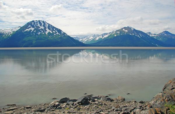 Mountain and a calm Bay Stock photo © wildnerdpix