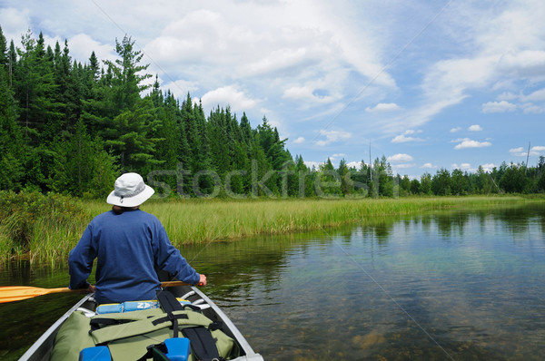 Canoeing in the Quetico Stock photo © wildnerdpix