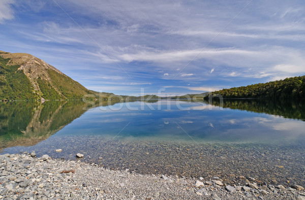 Mountain Lake with Early Morning Clouds Stock photo © wildnerdpix