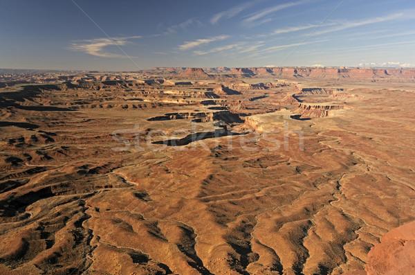 Morning Light on a Remote Desert Valley Stock photo © wildnerdpix
