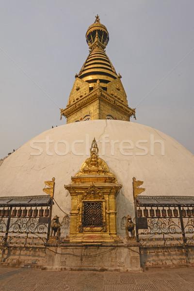 Tapınak kule şehir Bina din Stok fotoğraf © wildnerdpix