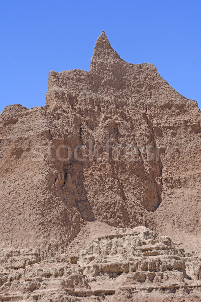 Badlands Pinnacle Soaring into the Sky Stock photo © wildnerdpix