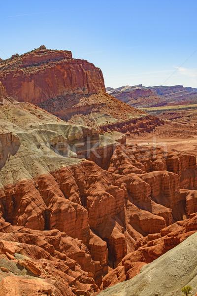 Kolorowy pustyni parku Utah zdalnego naturalnych Zdjęcia stock © wildnerdpix