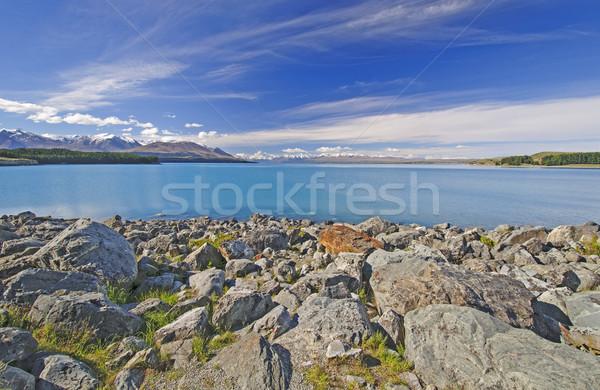 Rocky Shore of an Alpine Lake Stock photo © wildnerdpix