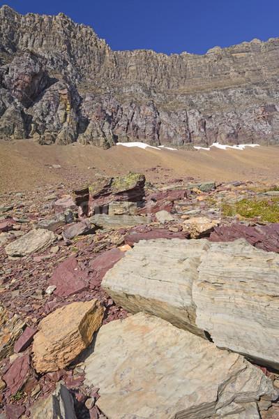 Colorful Rocks Below a Mountain Ridge Stock photo © wildnerdpix