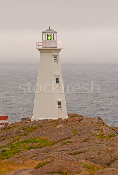 Farol nublado costa lança luz Foto stock © wildnerdpix
