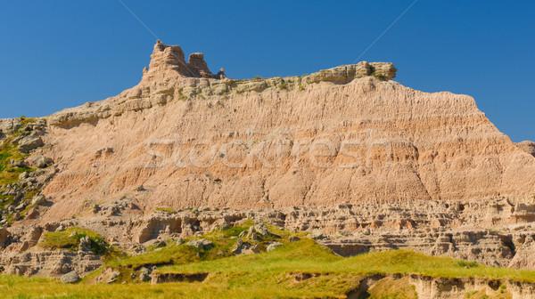 Stock photo: Badlands Escarpment in the Summer