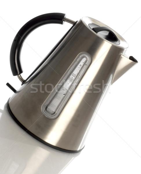 Elektromos tea bogrács tükröződés fehér fém Stock fotó © willeecole