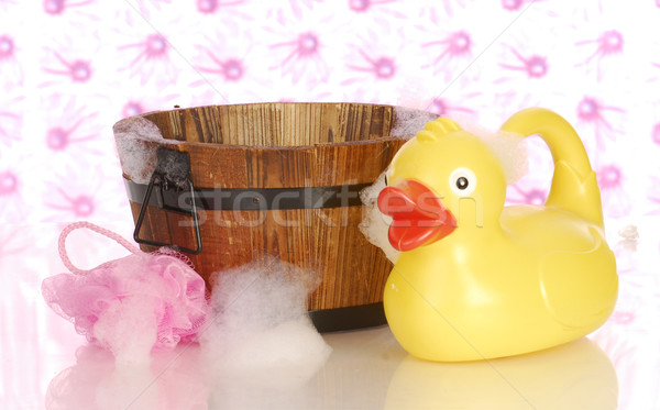 wash tub and rubber duck Stock photo © willeecole