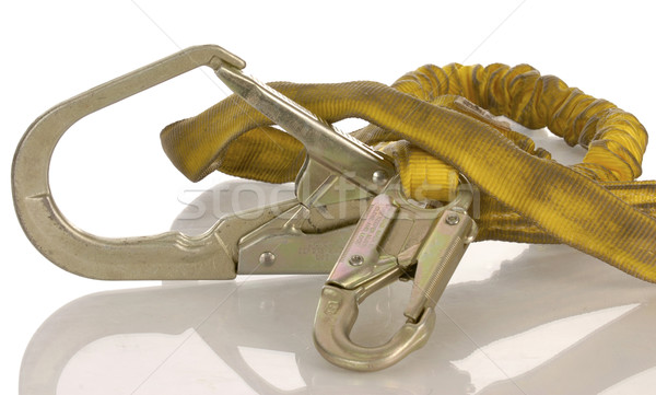industrial safety harness equipment with reflection on white background  Stock photo © willeecole