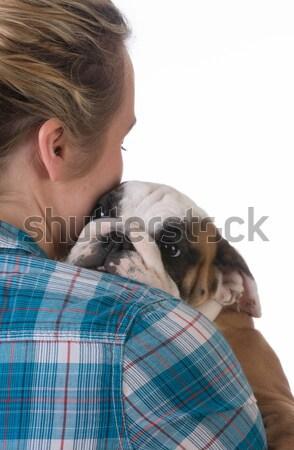 新しい 子犬 女性 黒 ストックフォト © willeecole