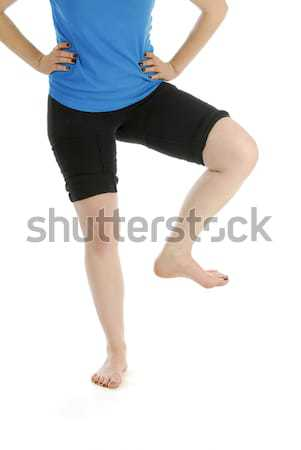 woman stomping foot Stock photo © willeecole
