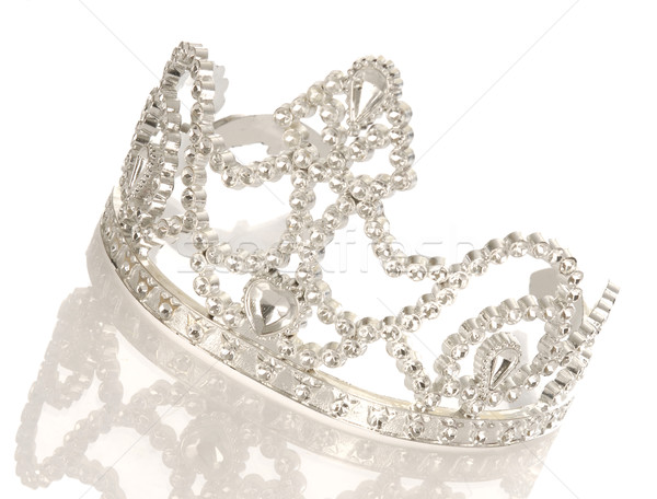 tiara or crown with reflection isolated on white background Stock photo © willeecole