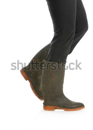 dirty rubber boots Stock photo © willeecole