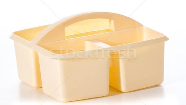 домашнее хозяйство организатор изолированный белый чистой пластиковых Сток-фото © willeecole