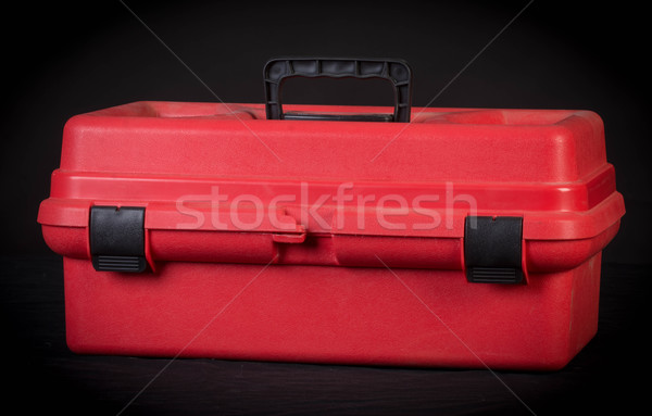 Stock photo: red tool box